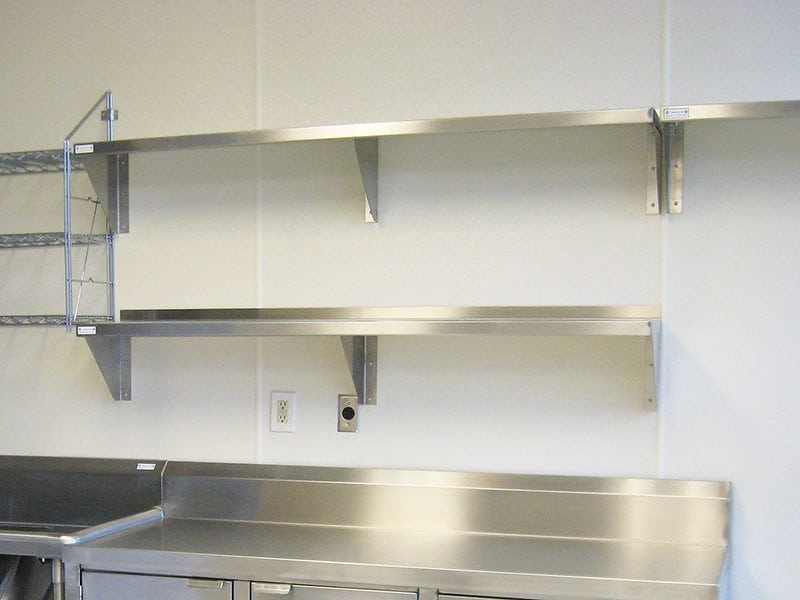 Stainless Steel Wall Shelving Kitchen Ventilation